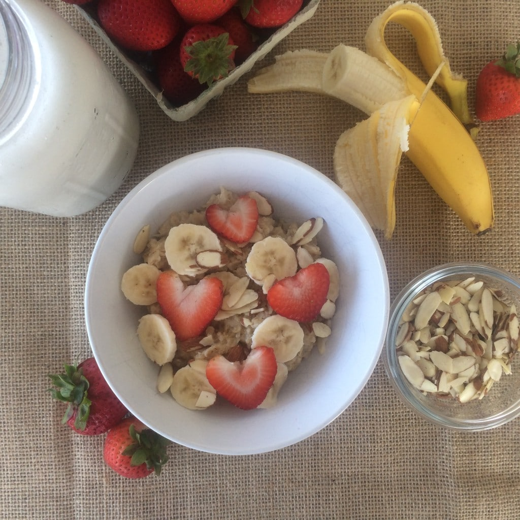 Strawberry shortcake oatmeal 2