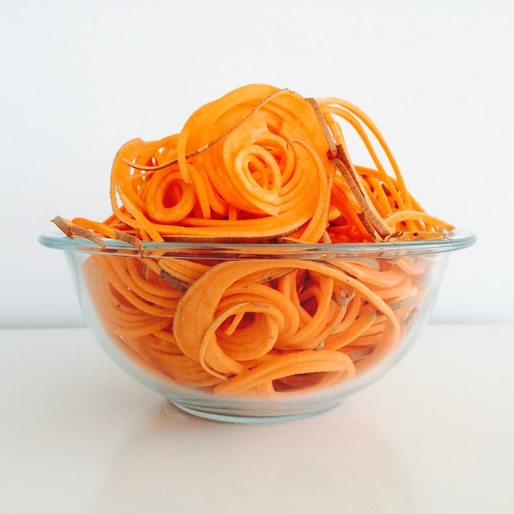 spiralized sweet potato