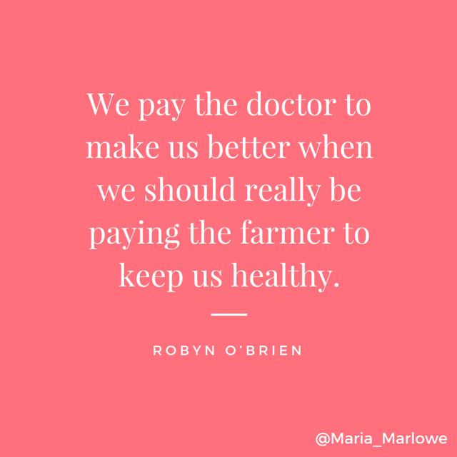 """We pay the doctor to make us better"