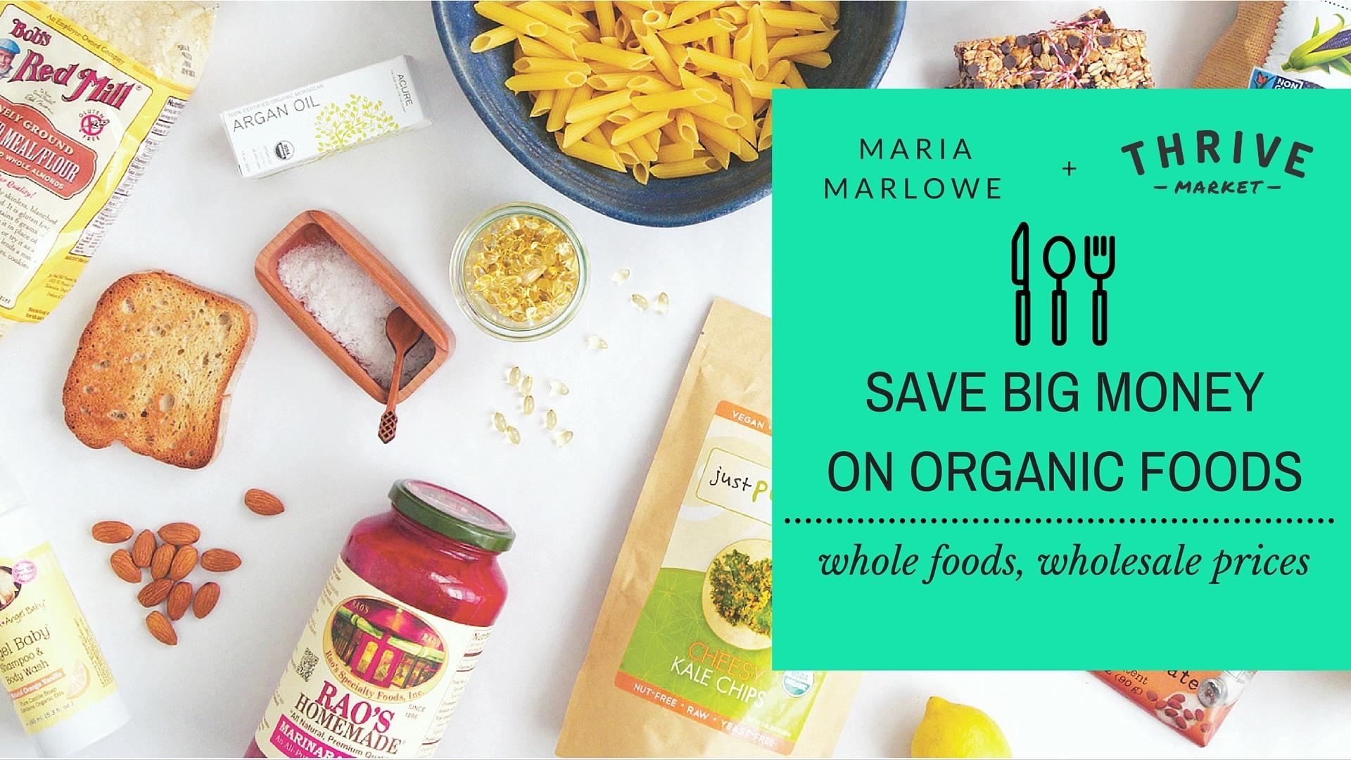 save money organic food
