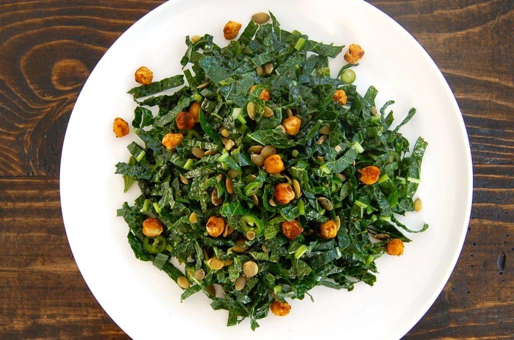 kale serrano mint salad