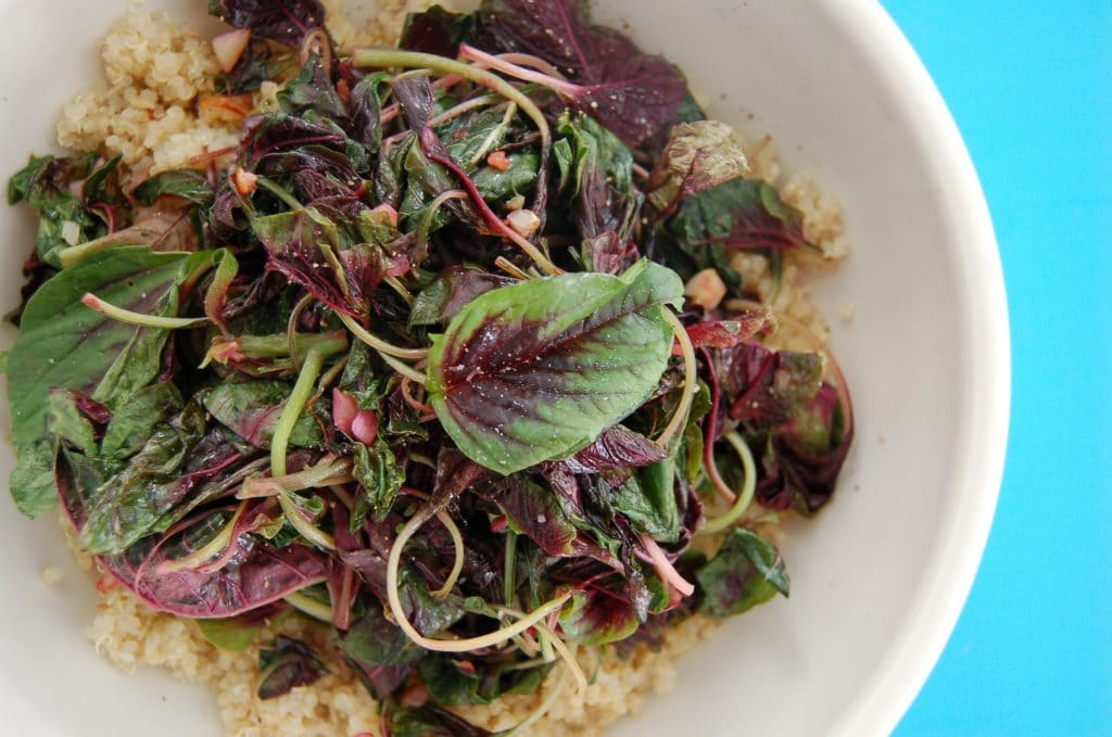 amaranth greens recipe