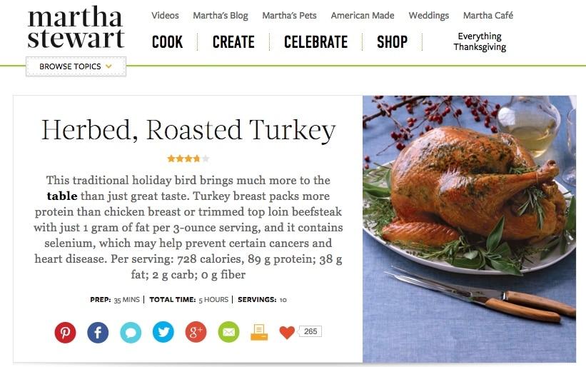 Martha stewart herb roasted turkey