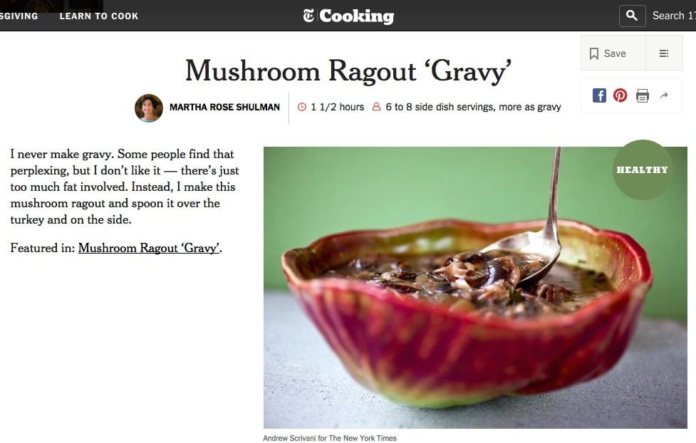 mushroom ragout nyt
