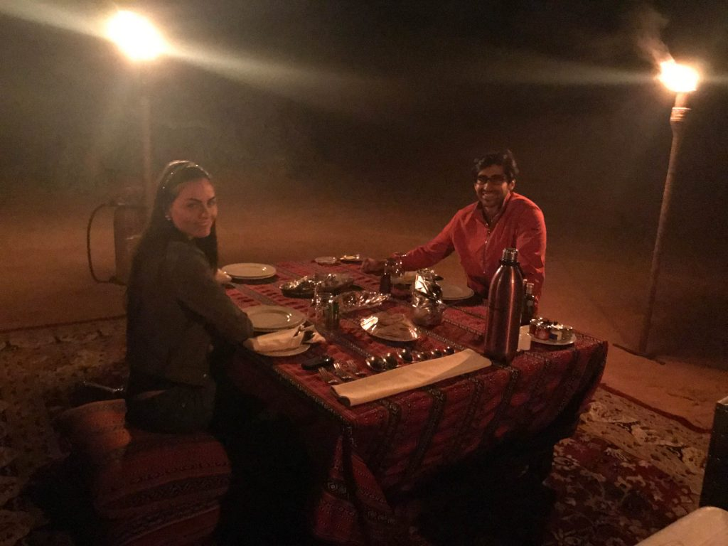 dinner in the desert