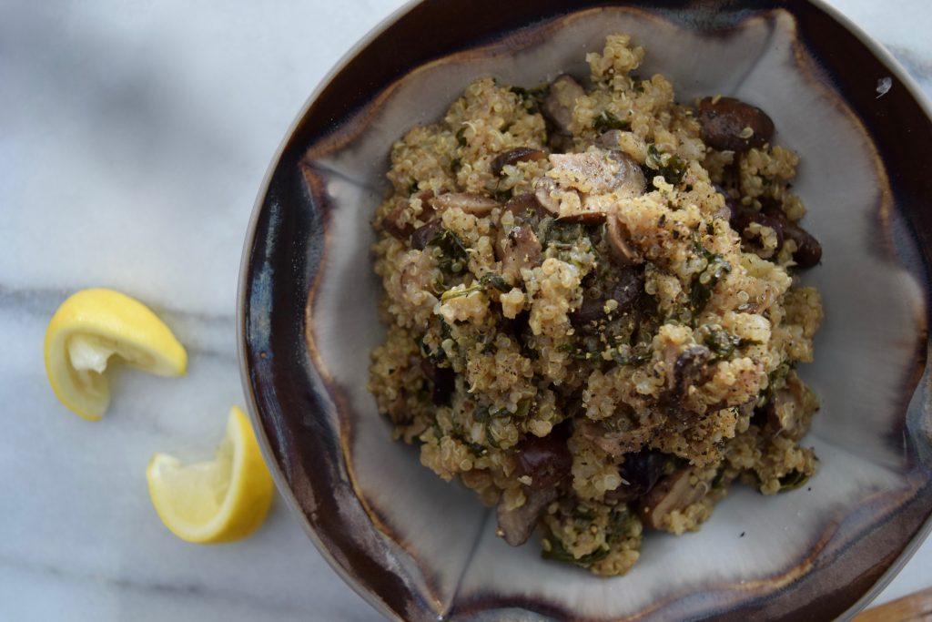 Meditteranean Mushroom Quinoa