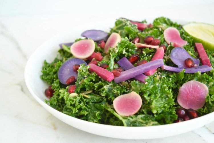 pink and purple detox salad