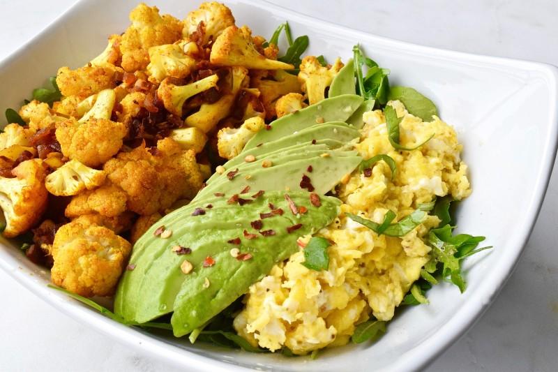 Spiced Cauli Paleo Breakfast Bowl