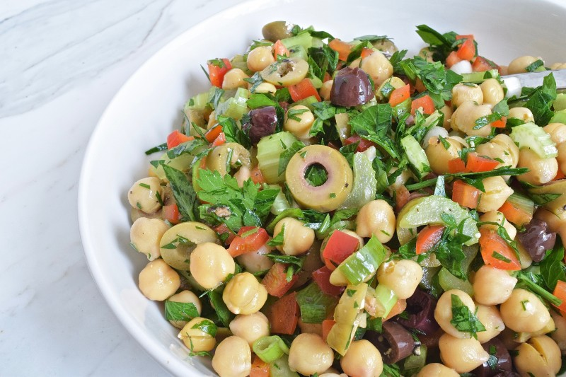 Lemon and Olive Chickpea Salad