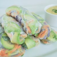 Ginger Veggie Rice Paper Wraps