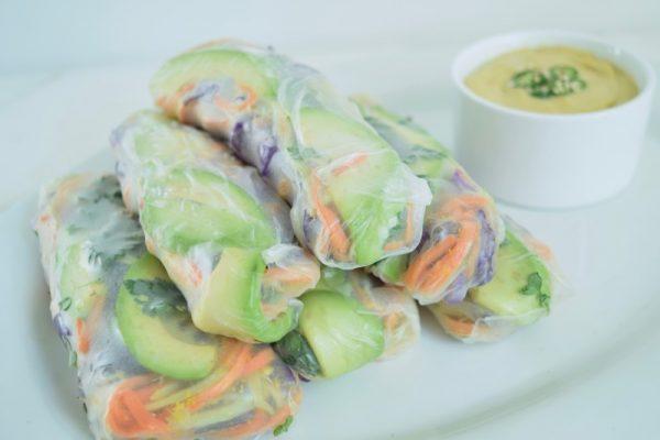 Ginger Veggie Rice Paper Wraps