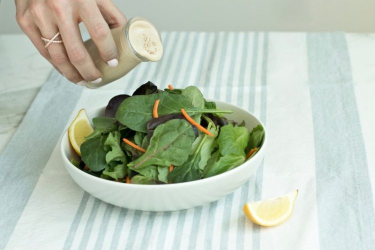 Lemon tahini salad dressing recipe