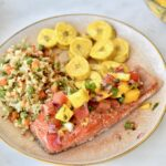 Healthy 4th of July Recipes -Mango Salsa Salmon