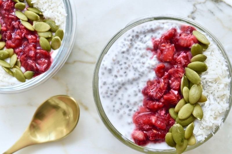 Quick Healthy Snack Recipes - Coconut Chia Pudding