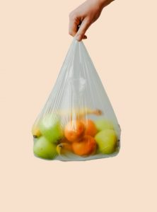 plastic bag with fruit