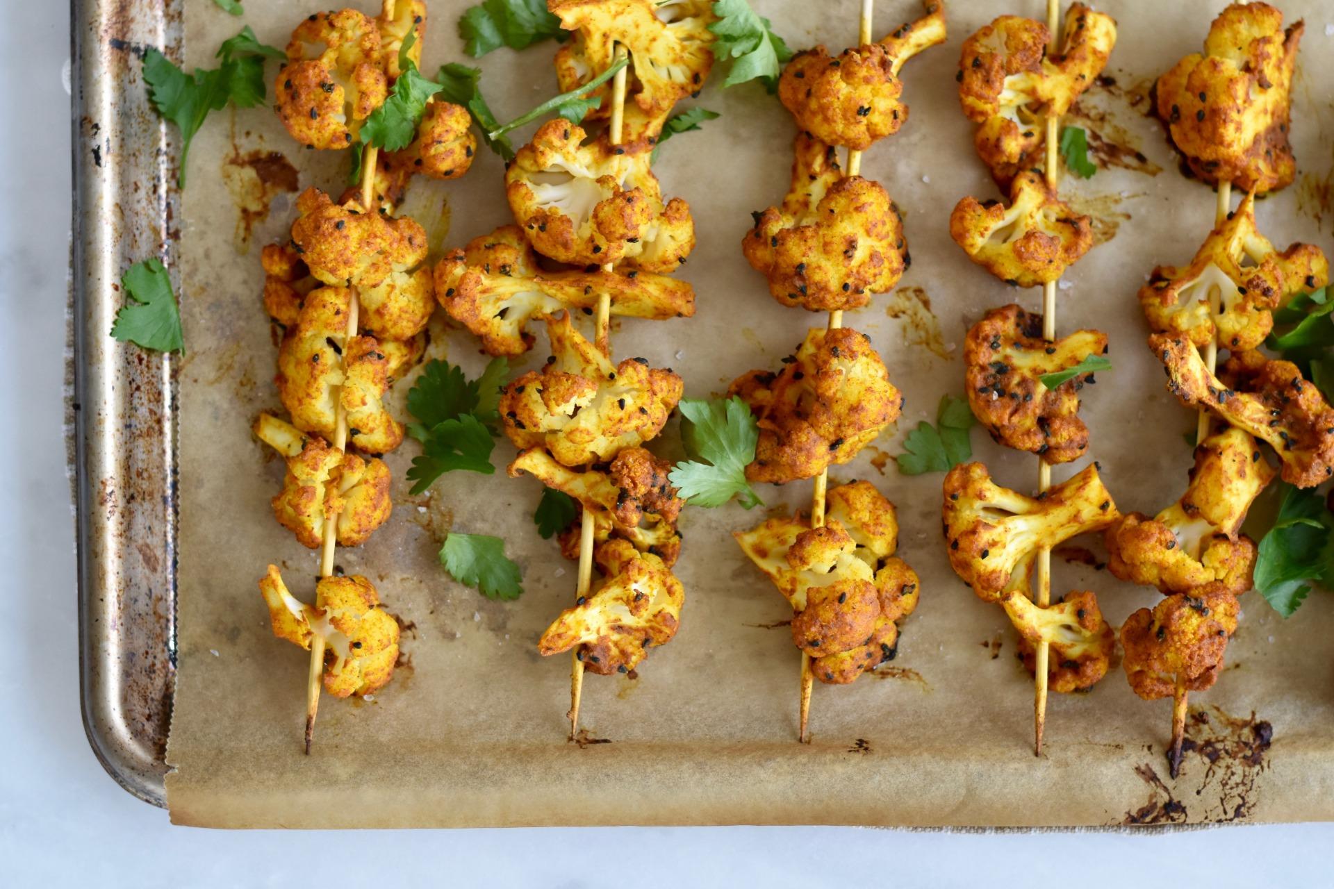 Cauliflower Kebabs