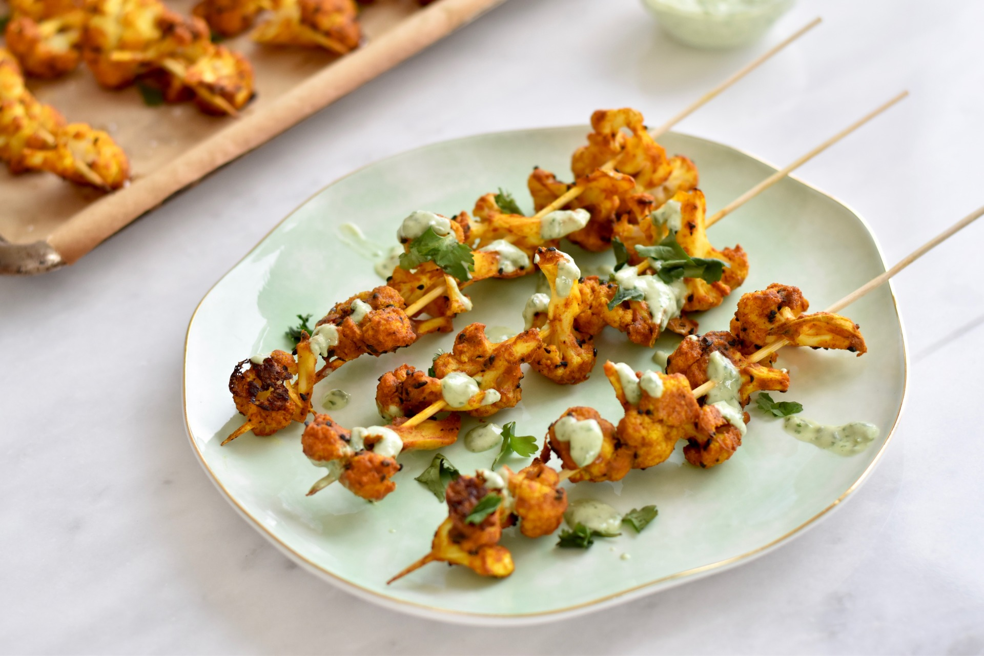 Healthy 4th Of July Recipes: Cauliflower Kebabs