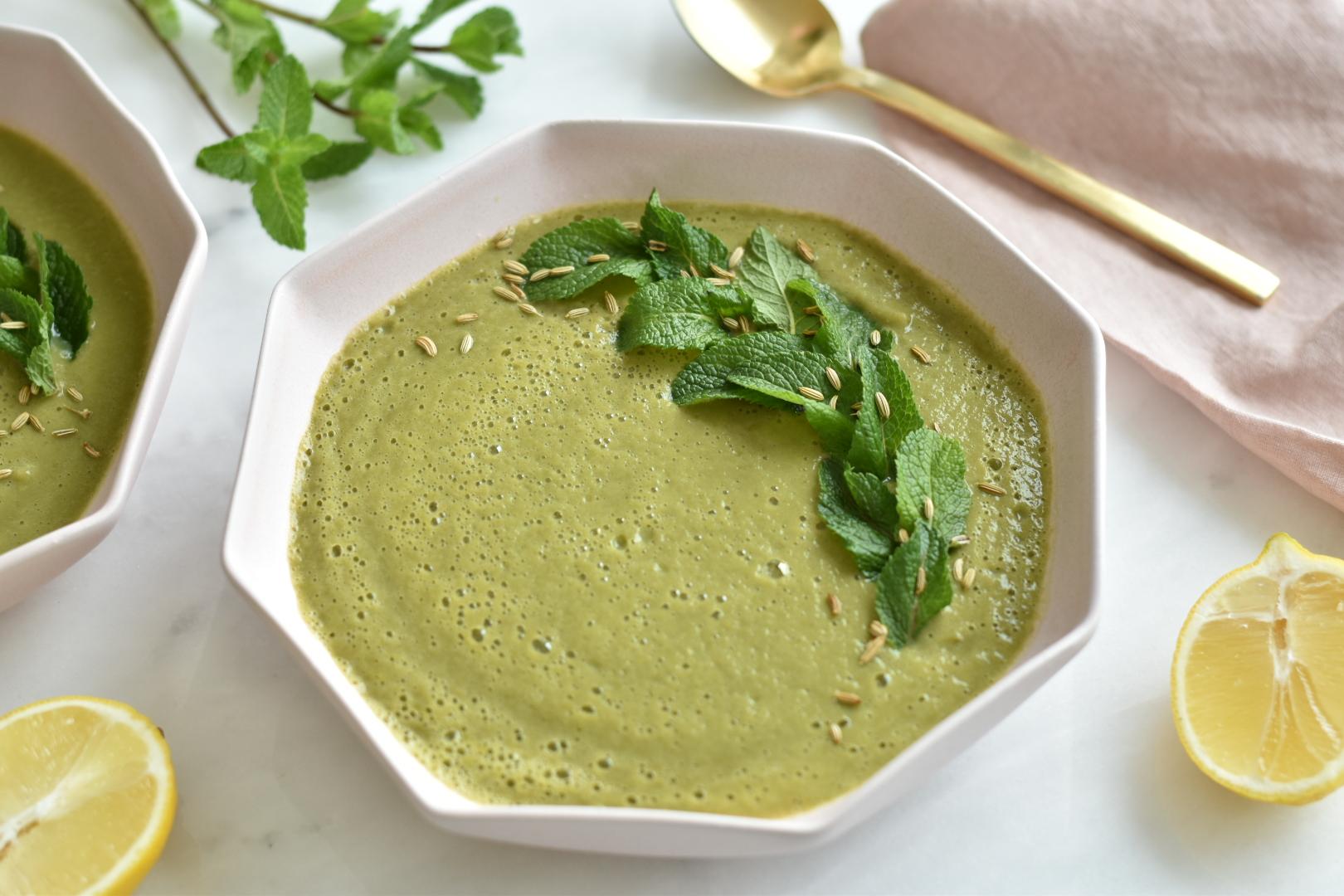 Zucchini Mint Soup
