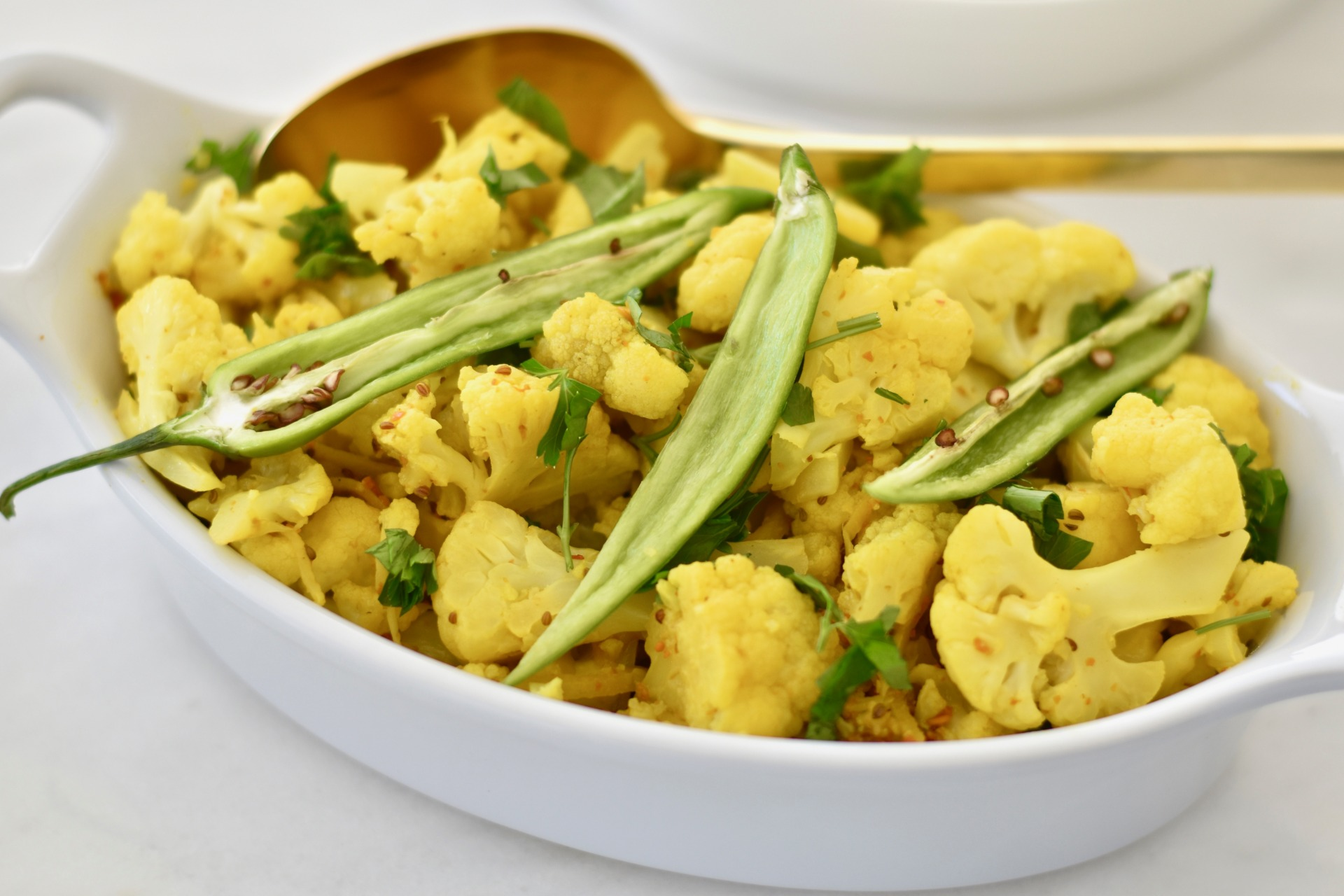 Golden Ginger Cauliflower - Maria Marlowe