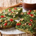 Fresh herb Fritatta - Kookoo Sabzi