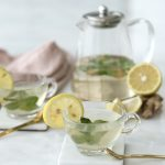 Drinks For Clear Skin: Lemon Ginger Mint Tea