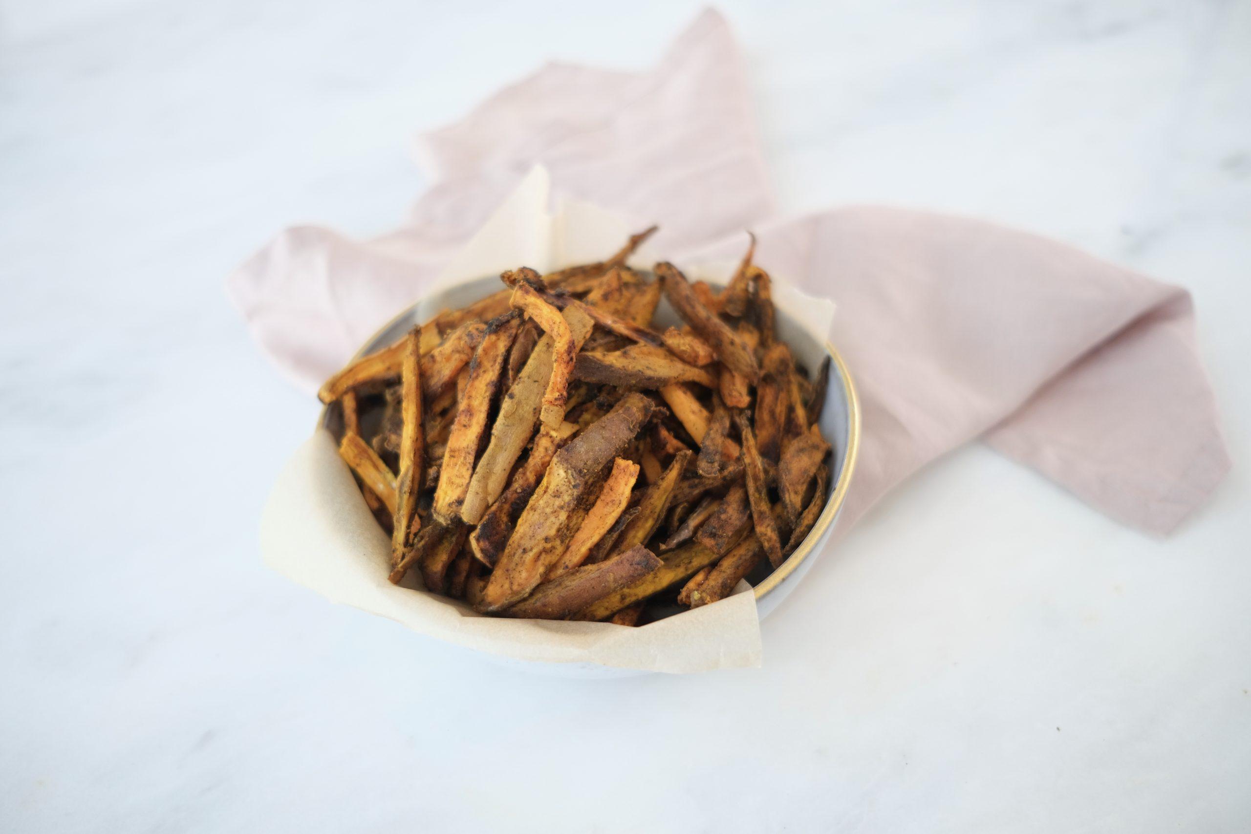 Turmeric Recipes For Glowing Skin: Sweet Potato Fries